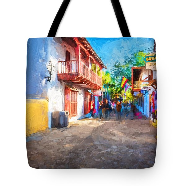 St George Street St Augustine Florida Painted Tote Bag