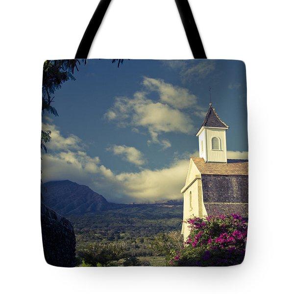 St. Joseph Catholic Church Kaupo Maui Hawaii Tote Bag by Sharon Mau