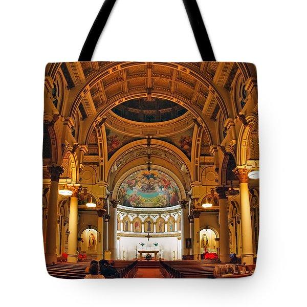 St. Leonard's Church....boston Tote Bag by Joann Vitali