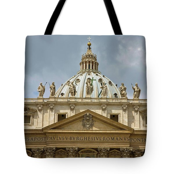 St Peters Square And St Peters Basilica Tote Bag