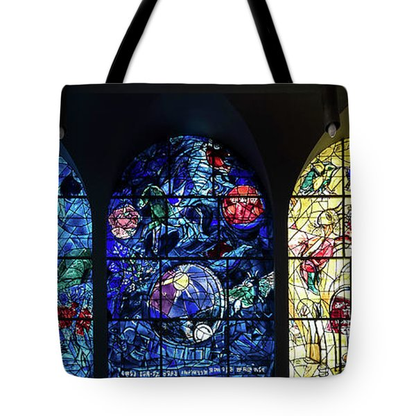 Stained Glass Chagall Windows Tote Bag