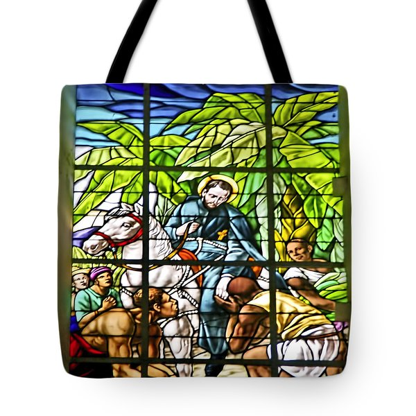 Stained Glass - Church Of St Peter Claver Tote Bag