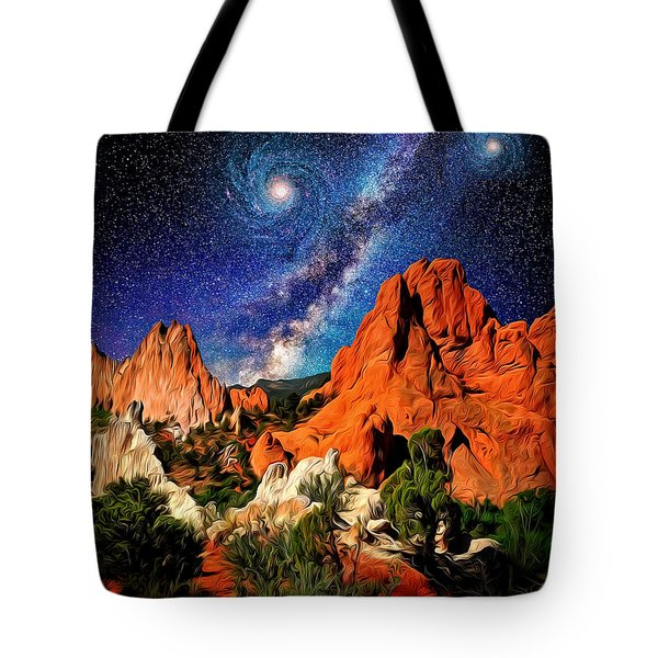 Starry Night At Garden Of The Gods Tote Bag by John Hoffman