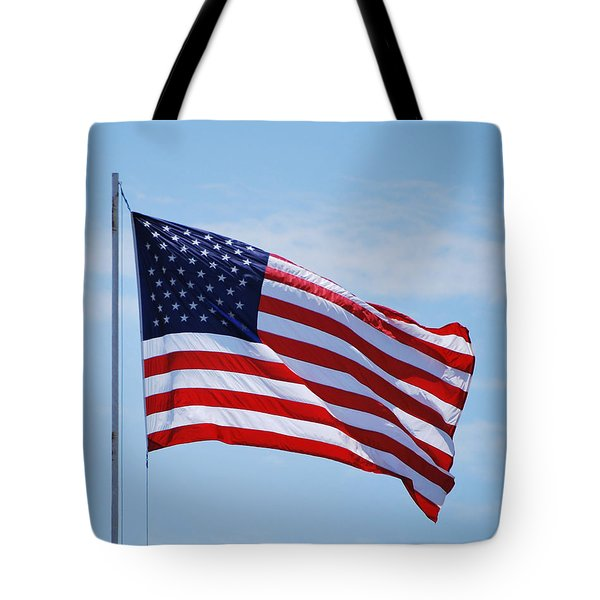 Tote Bag featuring the photograph American Flag  by Bob Sample