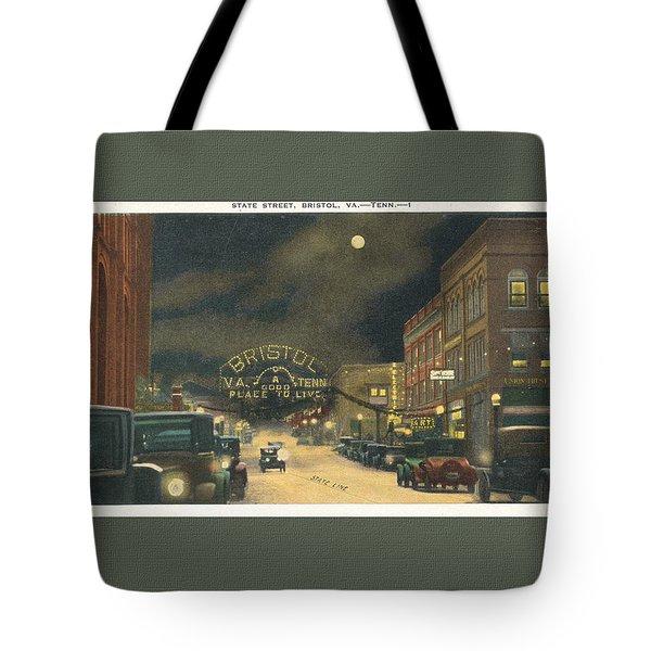 State Street Bristol Va Tn 1920's - 30's Tote Bag