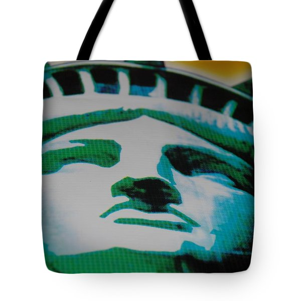 Statue Of Liberty  Tote Bag by Rob Hans