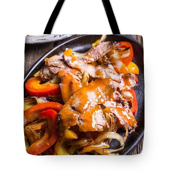 Steak Fajitas Tote Bag
