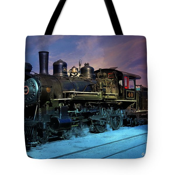 Steam Engine Nevada Northern Tote Bag