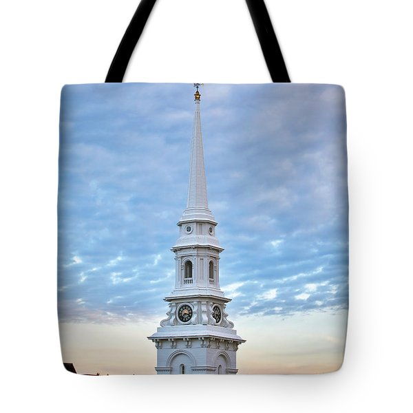 Steeple And Rooftops Tote Bag by Eric Gendron