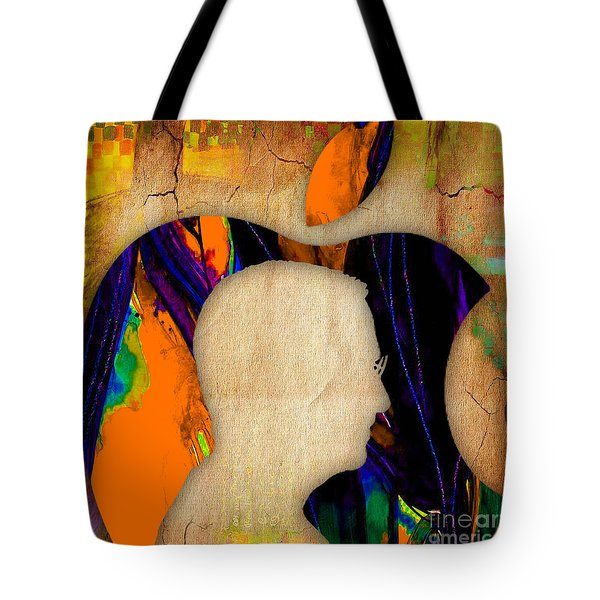 Steve Jobs Art Tote Bag