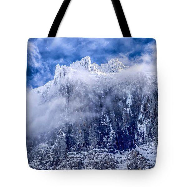 Tote Bag featuring the photograph Stone Cold by Aaron Aldrich