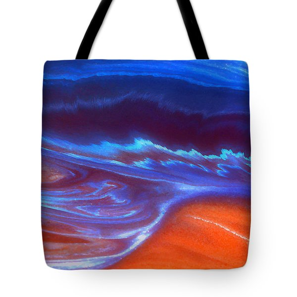 Tote Bag featuring the mixed media Storm by Irina Hays