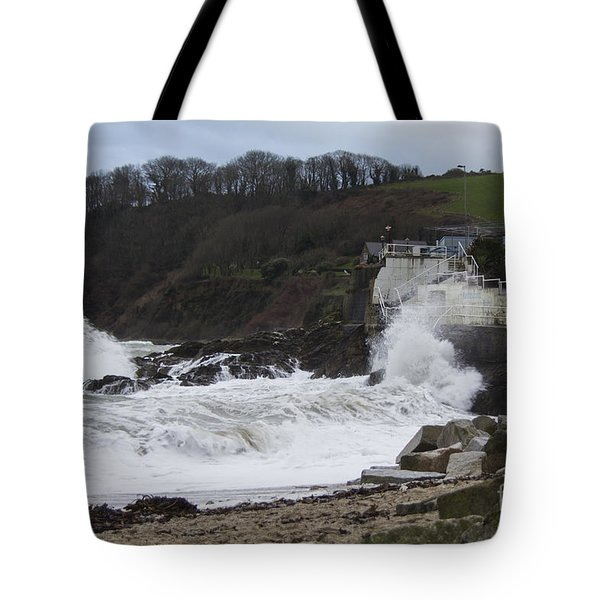Stormy Falmouth Tote Bag