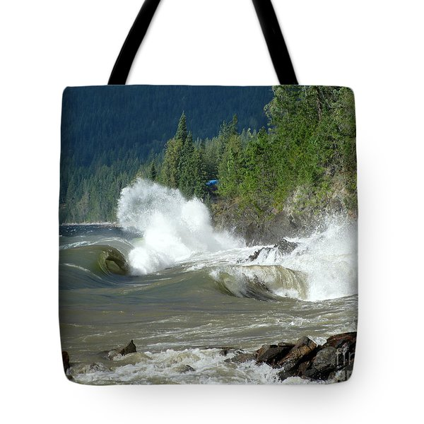 Stormy Lake Tote Bag