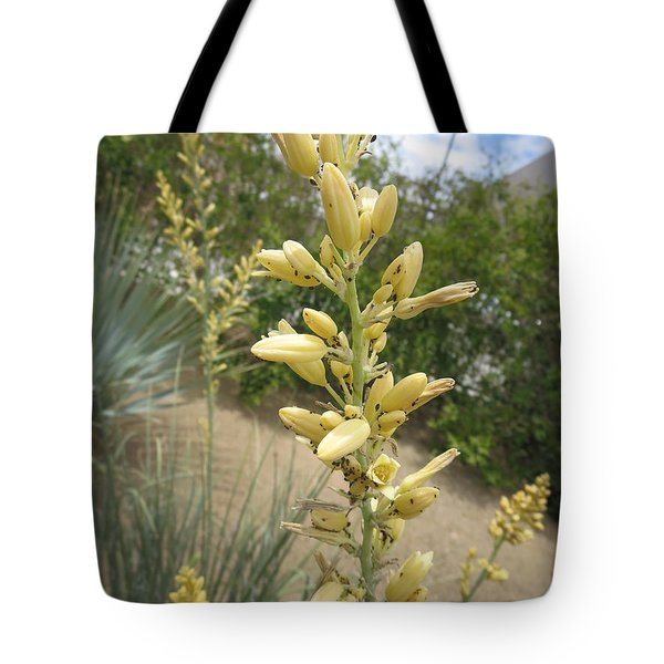 Tote Bag featuring the photograph 1 String Flowers    Photographed Las Vegas May 2014 by Navin Joshi
