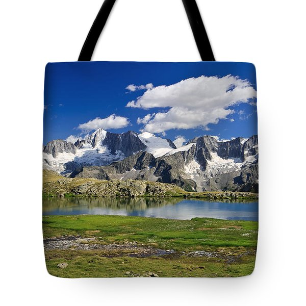 Tote Bag featuring the photograph Strino Lake - Italy by Antonio Scarpi