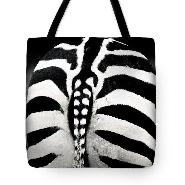 Striped Rear View Tote Bag