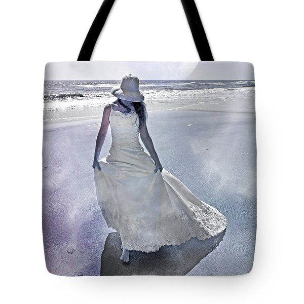 Strolling In Paradise Tote Bag by Betsy Knapp