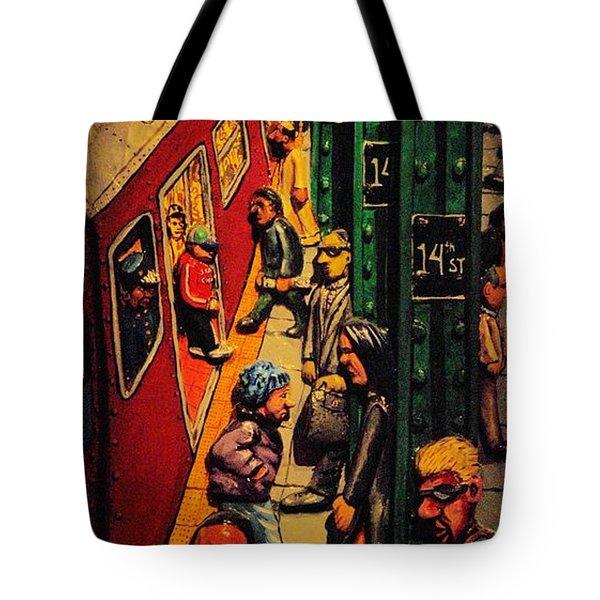 Subway Tote Bag by Rob Hans