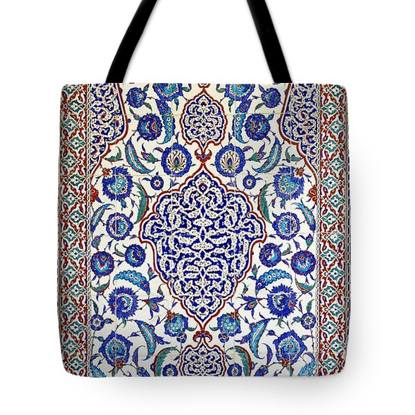 Sultan Selim II Tomb 16th Century Hand Painted Wall Tiles Tote Bag by Ralph A  Ledergerber-Photography