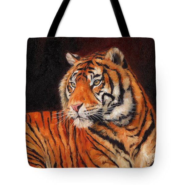 Sumatran Tiger  Tote Bag by David Stribbling