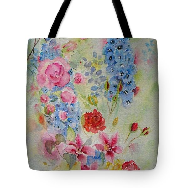 Summer Border Tote Bag