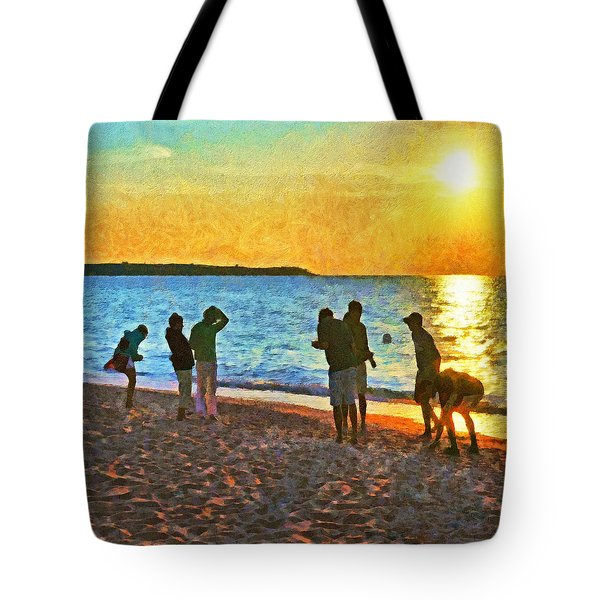 Summer Sunset At The Beach Tote Bag