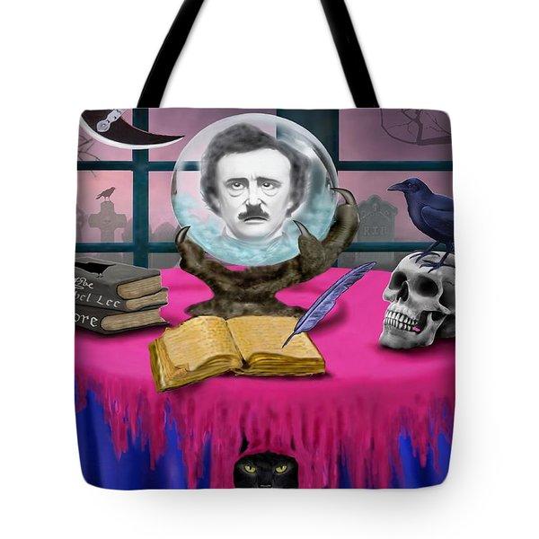 Summoning Edgar Allan Poe Tote Bag by Glenn Holbrook