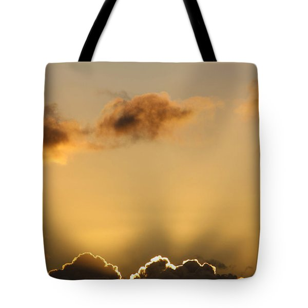 Sun Rays And Dark Clouds Tote Bag