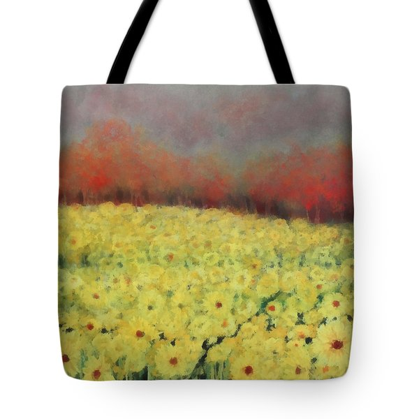 Tote Bag featuring the painting Sunflower Days by Katie Black