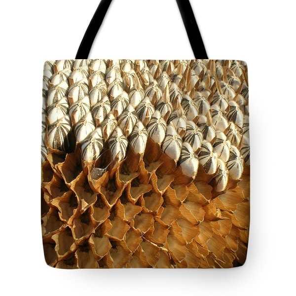 Sunflower Geometry Tote Bag