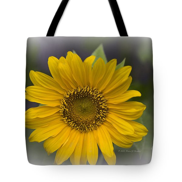 Tote Bag featuring the photograph Sunflower Vr. 'dwarf Sunspot ' by Richard J Thompson