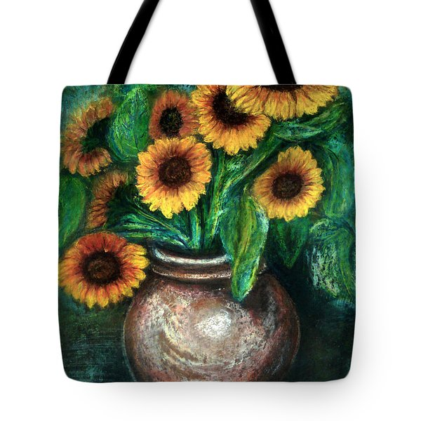 Sunflowers Tote Bag by Jasna Dragun