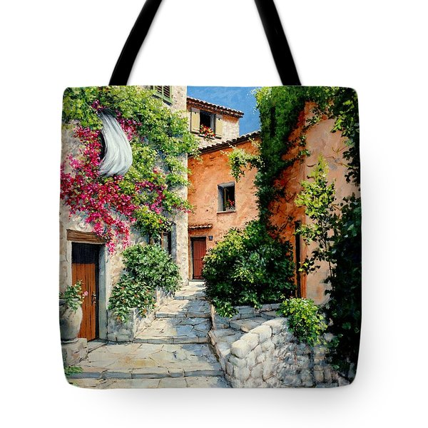 Sunny Walkway Tote Bag by Michael Swanson