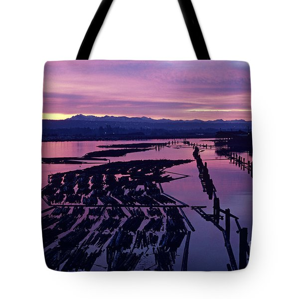 Sunrise Lumber Mill Tote Bag