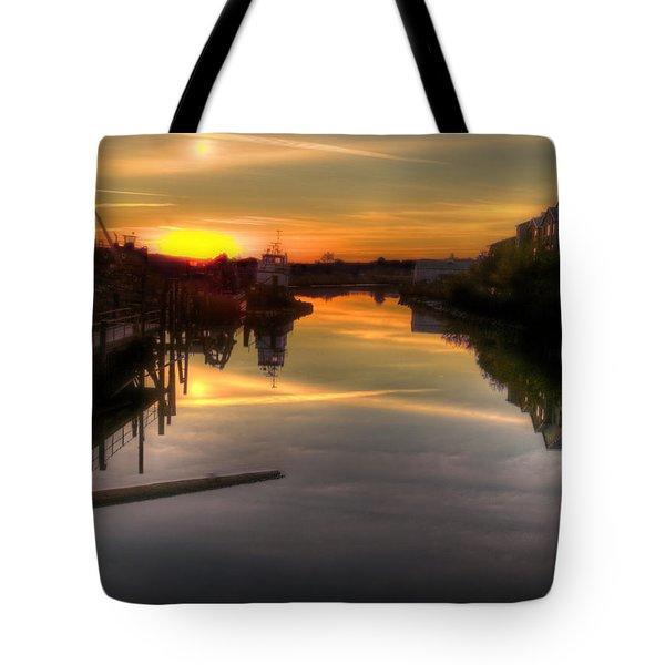 Sunrise On The Petaluma River Tote Bag