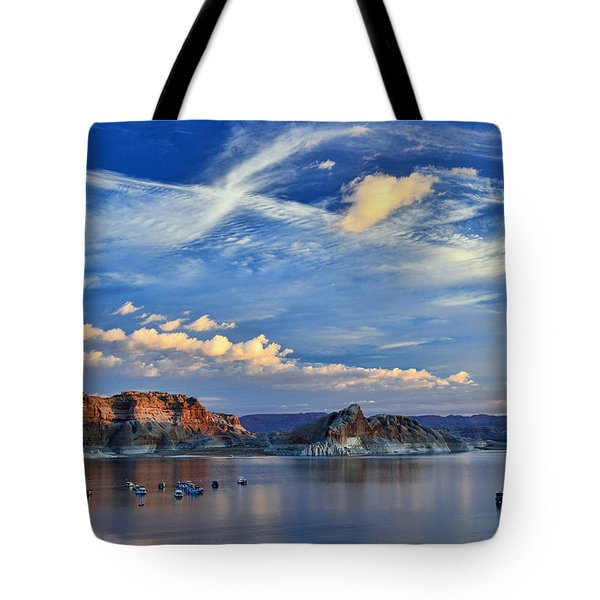 Sunrise Over Lake Powell Az Tote Bag
