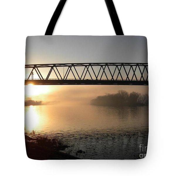 Sunrise Over The Ohio Tote Bag