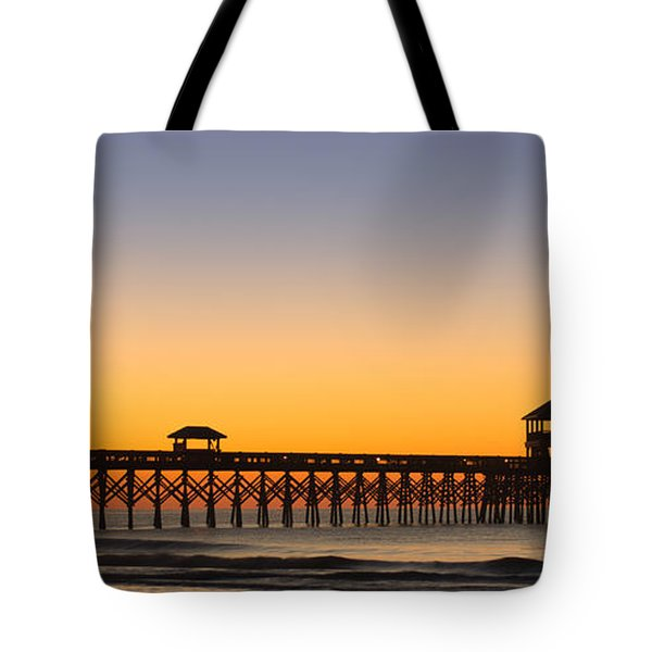 Sunrise Pier Tote Bag