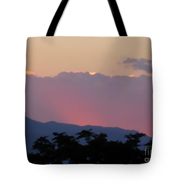 Tote Bag featuring the photograph Sunset 2 by Ze  Di