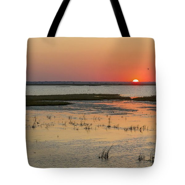 Tote Bag featuring the photograph Sunset At Cheyenne Bottoms by Rob Graham