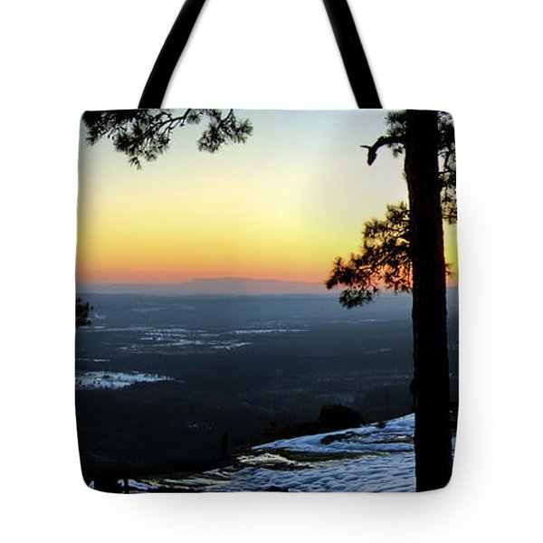 Sunset Atop Snowy Mt. Nebo Tote Bag by Jason Politte