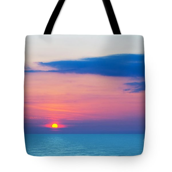 Sunset By The Sea Tote Bag by Michal Bednarek
