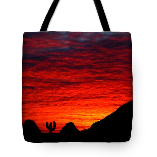 Sunset In The Desert Tote Bag by Bruce Nutting