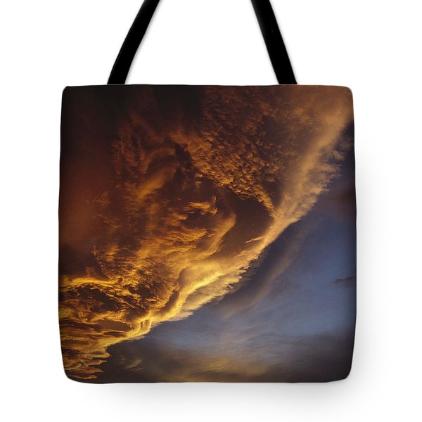 Sunset On Storm Clouds Near Mt Cook Tote Bag by Ian Whitehouse