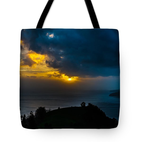 Sunset Over Blue Tote Bag