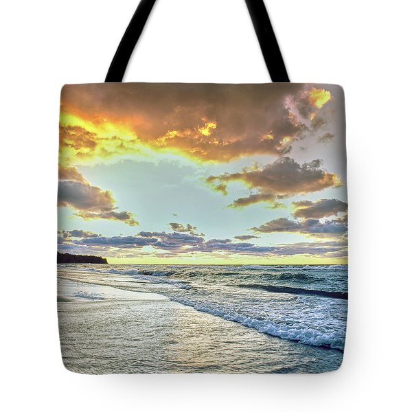 Sunset Over Lake Superior, Keweenaw Tote Bag