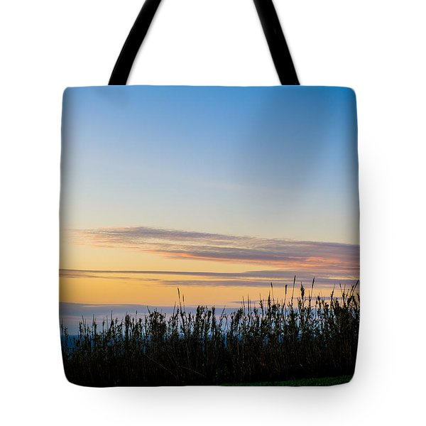 Sunset Over The Field Tote Bag