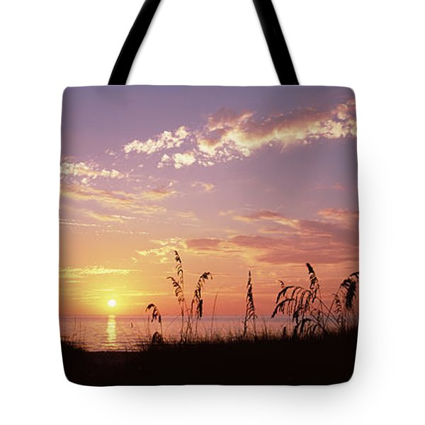 Sunset Over The Sea, Venice Beach Tote Bag by Panoramic Images