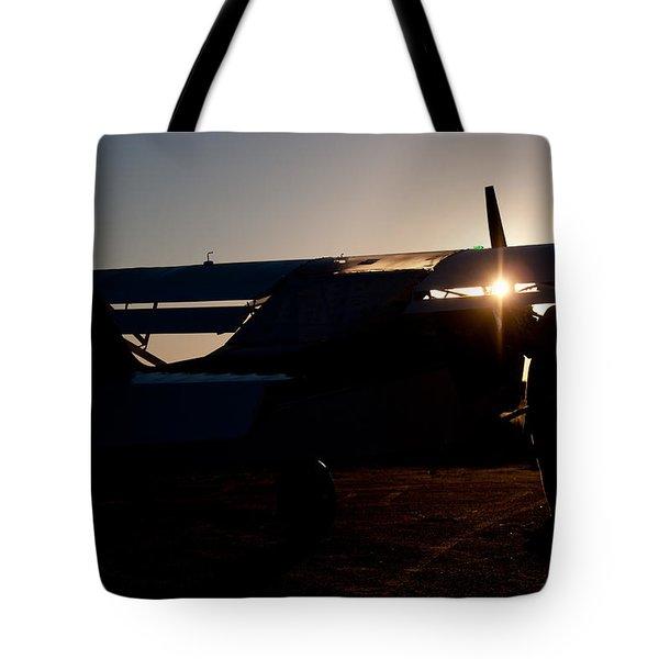 Sunset Plane Tote Bag by Paul Job